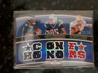 Triple Threads Football Card Jersey Patch Pequannock Township, 07444