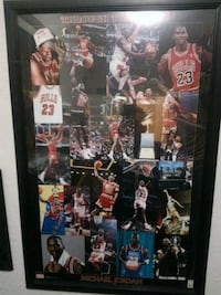 Rare Michael Jordan Framed Poster Los Angeles, 90068