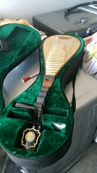 green and black acoustic guitar Richmond, V6X 1Z7