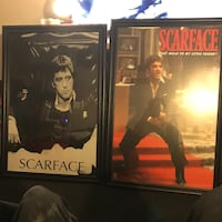 two Scarface posters with black frames Palatine, 60074