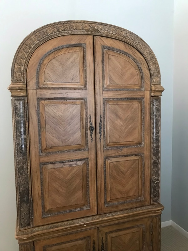 san francisco 6131a d8a47 Ornate Wardrobe Armoire (Movable Cabinet) w/ Antique Details