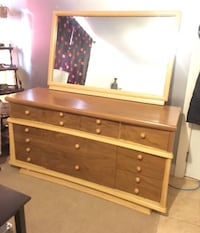 Brown and white wooden dresser 3721 km