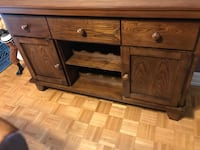 Real wood living room cabinet Mississauga, L5A 3G8