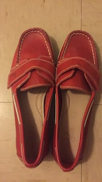 pair of red leather loafers Mississauga, L5A 2E8