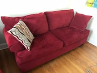 red fabric 2-seat sofa Baltimore, 21218