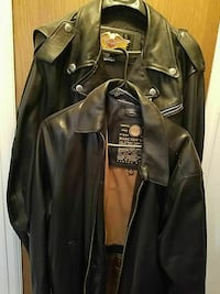 black leather button-up jacket Westminster, 80031