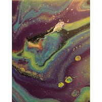 Purple, green and blue 8x10 abstract painting  Granite City, 62040