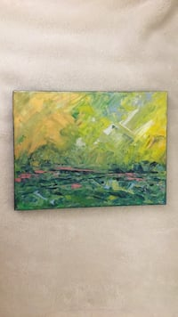 green and yellow abstract painting Arlington, 22203
