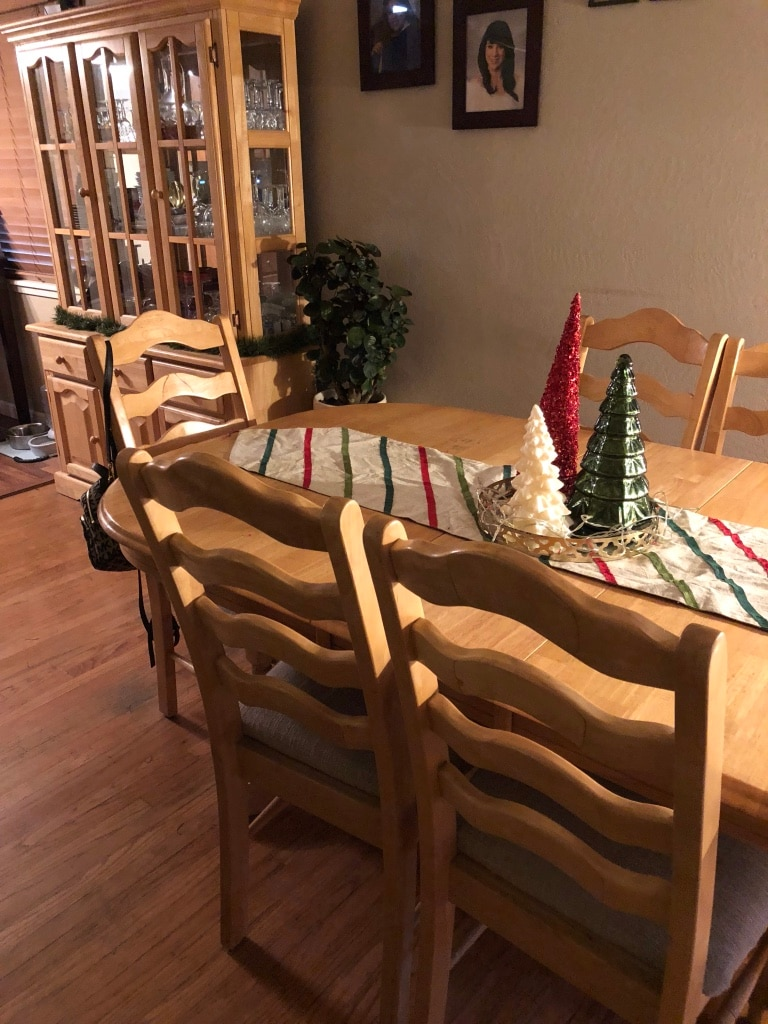 used brown wooden dining table set for sale in san leandro letgo rh gb letgo com