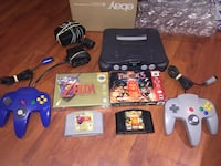N64 system with all wires   Zelda game and case Turok 3/ game and box 2 controllers  Halifax, B4E 3L3