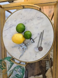 Marble and Gold Serving Tray Los Angeles