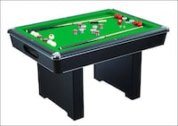 Carmelli NG2404PG Renegade Slate Bumper Pool Table with Fast Action Rubber Bumpers and Internal Carpeted Ball Return | SKU# 49182 Santa Fe Springs