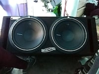 black and gray subwoofer speaker Seattle, 98134