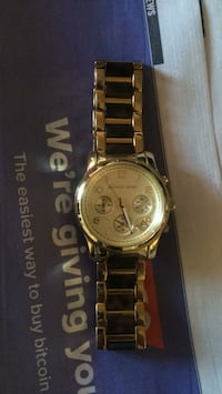 round silver-colored chronograph watch with link bracelet Ottawa, K1K 3X5