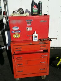 red and gray metal tool chest San Jose, 95111
