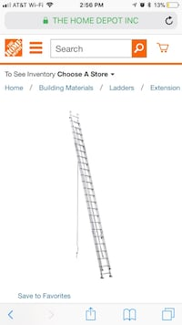 48 ft. Aluminum D-Rung Extension Ladder with 300 lb. Load Capacity Type IA Duty Rating Manassas, 20112