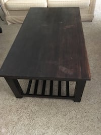 rectangular black wooden coffee table 40 km