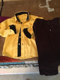 Size 4 years old boys dress shirt and pants