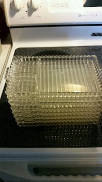 Antique glass food trays