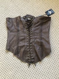 Women real leather brown vest Toronto, M6S 1P9