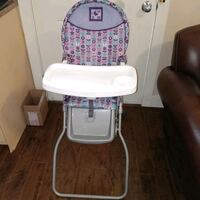 baby's white and gray highchair Surrey, V3X 2L5