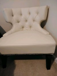 white fabric sofa chair with ottoman Charlotte, 28227