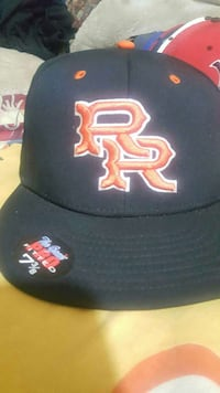 black and orange RR fitted cap San Diego, 92105