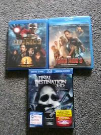 Blue ray movies 3 for $10.00 Woonsocket, 02895
