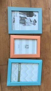 two blue and one pink photo frames Tillson, 12486