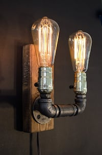 Edison Wall Lamp | Rustic Design | Home Decor | Steampunk Lamp | Industrial Lighting | Housewarming Gift | Edison Lamp | Edison Bulb SOUTHMILWAUKEE