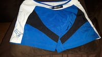 blue, black, and white Fox shorts size small Quinte West, K8V 5P4
