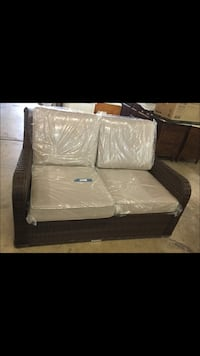 Liva Springs Tropical Love Seat with Beige Cushions ($429) Dallas, 75243