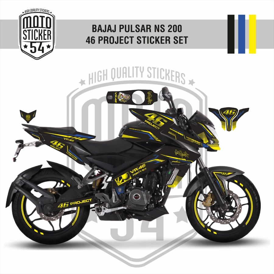 Bajaj Pulsar NS 200 Sticker Set