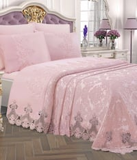 white and pink floral bed sheet set Toronto, M3L 0A5