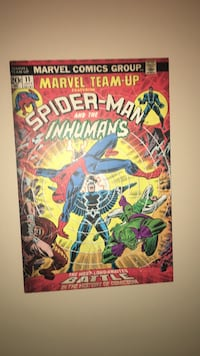 Marvel comics team-up spider-man and the inhumans comic book wall poster Surrey, V3T 0E3