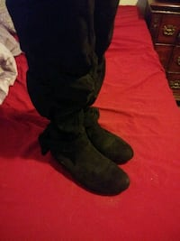 pair of black suede boots Wichita, 67204