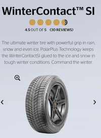 Winter tires and rims - Continental WinterContact SI  [TL_HIDDEN] T) 556 km