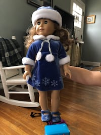 American girl doll and items