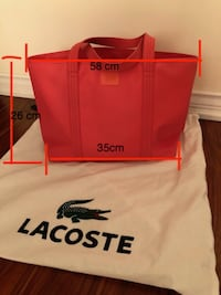 95% NEW Lacoste Tote bag