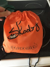 Orange and black skoolzy drawstring pouch Ashburn, 20147