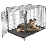 black metal folding dog crate BROOMFIELD