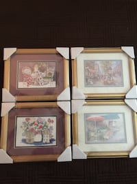 Solid wood framed art New covered in plastic 9 by 12 3.00 a piece Ballwin, 63021