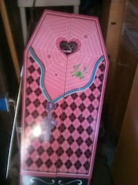 pink and black coffin plastic toy Merced, 95340