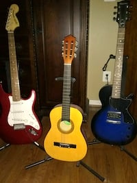3 Guitars & Stands, 1 Fender Amp Fort Belvoir, 22060