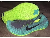 Nike Free Flyknit 3.0 Dark Grey Atomic Teal Electric Green ( [PHONE NUMBER HIDDEN] ) size 11 New Without Box Elk Grove, 95757