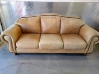 Rustic Beige Leather Sofa Set Glassmanor, 20745