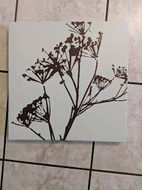 black and white flower painting Sierra Madre, 91024