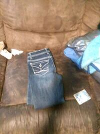 two blue and black denim jeans Houston, 77049