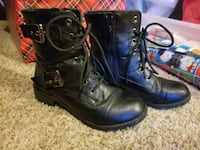 pair of black leather 2-buckle riding boots Norman, 73069