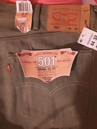 Levi's 501 button fly Jean's new size 44/32 Indianapolis